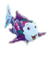 "14"" Airfill Rainbow Fish Shape M620"