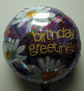 "18"" Birthday Greeting Mylar Balloon"