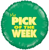 "18"" My Pick Of The Week Mylar Balloon"