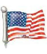 14&#39&#39 United States of America Flag Shape