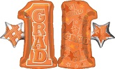 "28"" #1 Grade Shape Orange Mylar Balloon"