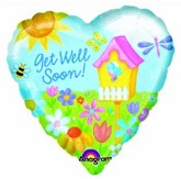 "30"" Garden Get Well Jumbo Balloon"