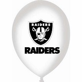 "11"" Latex Balloons Oakland Raiders White"