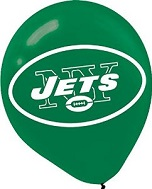"11"" Latex Balloons New York Jets"