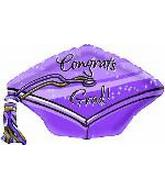 "22"" Congratulations Purple Grad Cap"