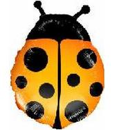 "22"" Ladybug Orange Mylar Balloon"
