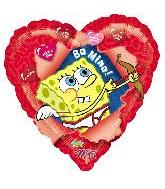 "18"" SpongeBob Balloon Be Mine"