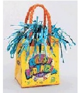 5.5OZ Yellow Birthday Balloon Bag Weight
