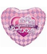 "18"" Valentine Princess Tiara Balloon"
