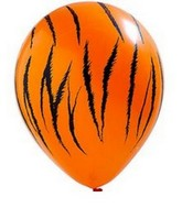 "11"" Tiger Stripes Latex balloons Neon Orange"