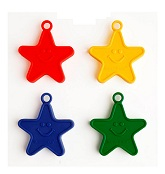 100 Gram Assorted Smiley Star Weights 10 Pack