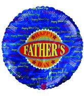 "18"" Happy Father&#39s Day Script Writing Border Balloon"