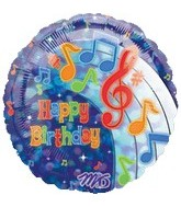 "32"" Party Tunes Happy Birthday 5B211"