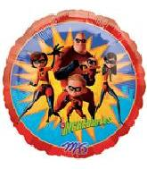 "9"" Airfill Only The Incredibles Mylar Balloon"