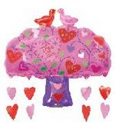 "33"" Love Birds Tree Dangler"