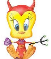 "30"" Widdle Devil Tweety Balloon"