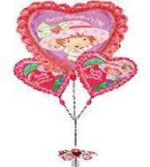 3 Balloon Bunch Strawberry Shortcake Valentine