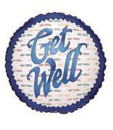 "18"" Get Well Repeat Round Balloon"