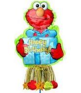 "57"" Elmo Birthday Inflatable Yard Sign"