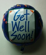 "18"" Get Well Geo Balloon"