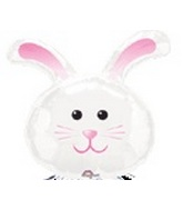 "12"" Airfill Only  Bunny Rabbit Balloon"