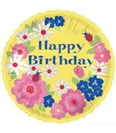 "18"" Happy Birthday Flowers Wreath"
