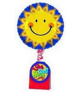 18&#39&#39 Get Well Sunny Smile Face Note Float B205