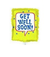 "18"" Get Well Frog/Bugs Balloon"
