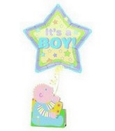 21&#39&#39 It&#39s a Boy! Stars Around Note Float
