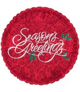 "18"" Seasons Greetings Red"