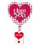 "18"" I Love You Truly Note Floats"