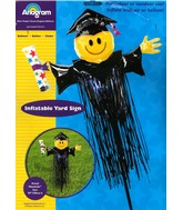 "59"" Graduation Smiley Yard Sign"