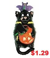 "30"" Jumbo Cat Balloon Trick Treat"