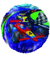 "18"" Racing Car Number 4 Foil Balloon"