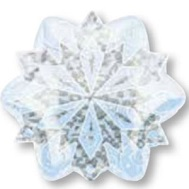 Junior Shape Holographic White Christmas Snowflake