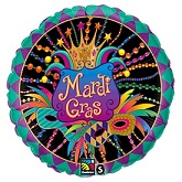 "18"" Mardi Gras Party Mask Balloon"