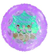 "18"" Happy Birthday Ballerinas Pink Balloon"