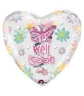 "32"" Get Well Butterfly Swirl Insider Balloon"