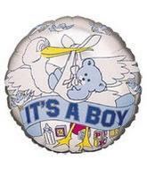 "4"" Airfill Balloon IT&#39S A BOY STORK"