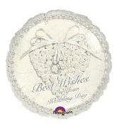 "18"" Best Wishes Wedding Heart 5B88"