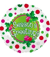 "18"" Season&#39s Greetings Polka Dots"