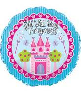 "17"" Get Well Soon Princess Foil Balloon"