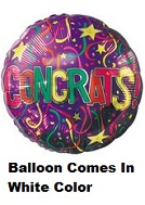 "17"" Congrats Festive Balloon Packaged"