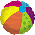"18"" Beach Ball Mylar Balloon"