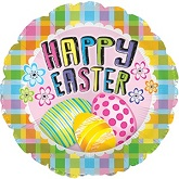 "17"" Easter Plaid & Eggs Balloon"