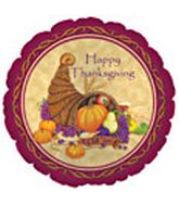 "18"" Happy Thanksgiving Cornucopia"