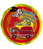 "18"" Happy Birthday Fire Truck Packaged with Weight"