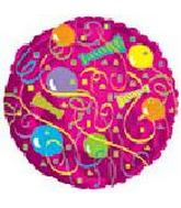 "18"" Party Pattern Round Slightly Damaged Print"