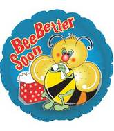 "17"" Bee Better Soon Foil Balloon"