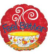 "17"" Feel Better Chicken Soup Foil Balloon"